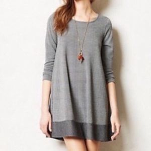 Anthropologie puella elbow patch swing dress